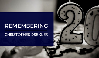 Twenty years ago today, Christopher Drexler's mother gave birth to him in a bathroom stall at her high school prom. Then, she suffocated him and threw him in the trash can before rejoining her friends on the dance floor.