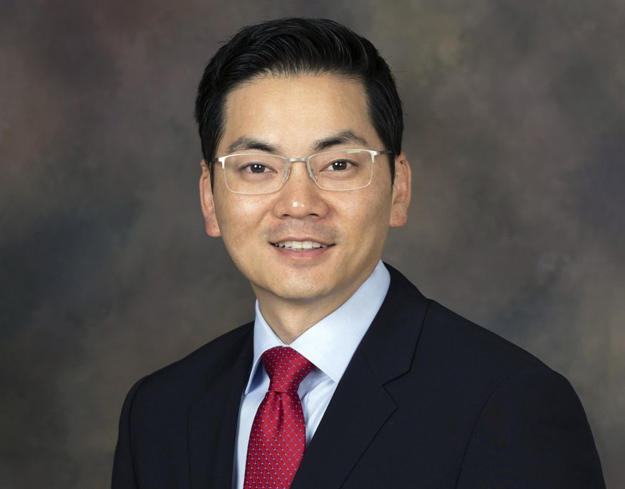 FILE - This undated file photo provided by the Ahn For Congress campaign shows Robert Lee Ahn. Two Democrats, Ahn, a Korean-American, and Jimmy Gomez, a Hispanic, are in a Tuesday, June 6, 2017, runoff for a U.S. House seat that is testing the boundaries of racial politics. (Ahn For Congress Campaign via AP, File)