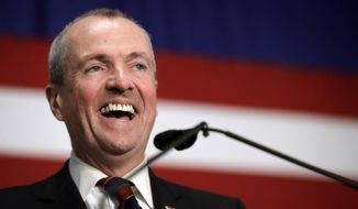 Phil Murphy talks to supporters during a Democratic primary election watch party at the Robert Treat Hotel, Tuesday, June 6, 2017, in Newark, N.J. Murphy won the primary and will face New Jersey Lt. Gov. Kim Guadagno, who won the Republican primary. (AP Photo/Julio Cortez)