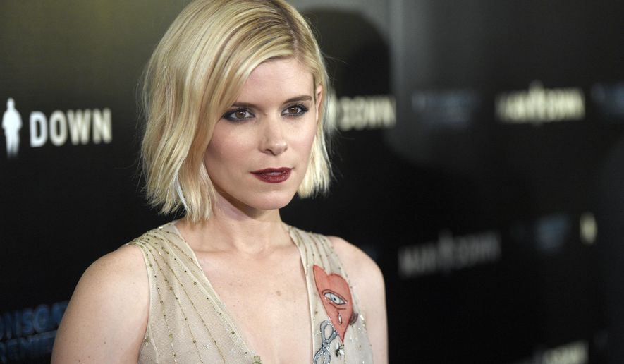 """FILE - In this Nov. 30, 2016 file photo, Kate Mara arrives at the Los Angeles premiere of """"Man Down"""" at ArcLight Cinemas Hollywood. (Photo by Chris Pizzello/Invision/AP, File)"""