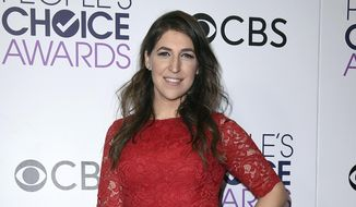 In this Jan. 18, 2017 file photo, Mayim Bialik poses in the press room after winning the award for favorite new TV drama at the People's Choice Awards in Los Angeles. (Photo by Jordan Strauss/Invision/AP, File)
