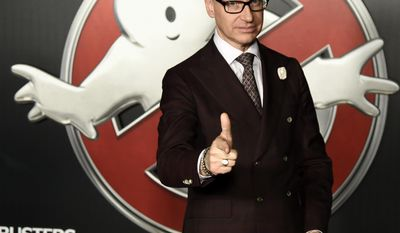 "FILE - In this April 12, 2016 file photo, Paul Feig, director of the film ""Ghostbusters,"" appears at the Sony Pictures Entertainment presentation at CinemaCon 2016, in Las Vegas. Sony Pictures told The Associated Press on June 6, 2017, that it has an ""incredible relationship"" with Feig following critical comments from Dan Aykroyd over how much he spent on last year's ""Ghostbusters"" remake. (Photo by Chris Pizzello/Invision/AP, File)"