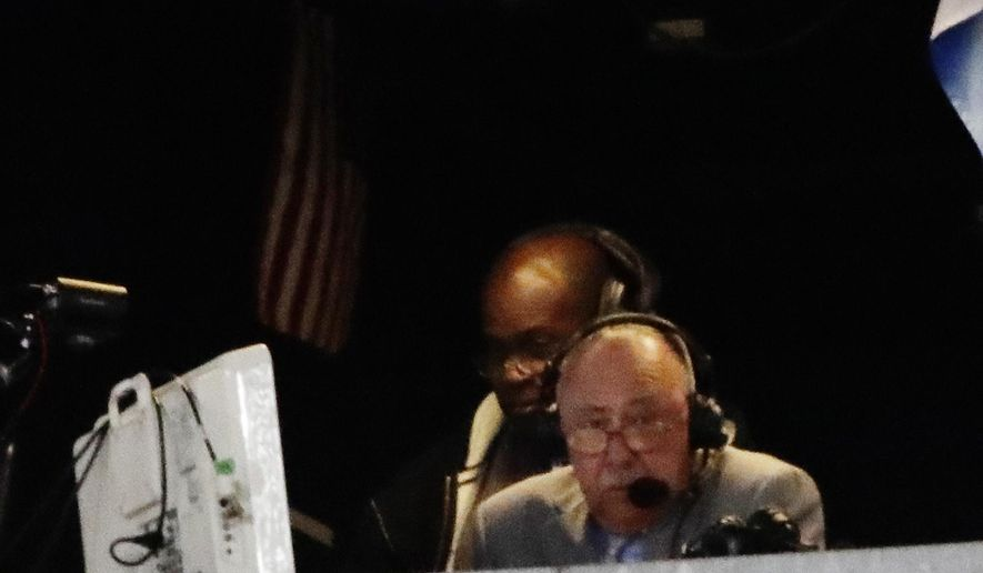 Boston Red Sox broadcaster Jerry Remy works during the seventh inning of a baseball game between the New York Yankees and the Boston Red Sox, Tuesday, June 6, 2017, in New York. Remy said pitchers such as Yankees ace Masahiro Tanaka shouldn't be allowed translators on the mound. (AP Photo/Frank Franklin II)