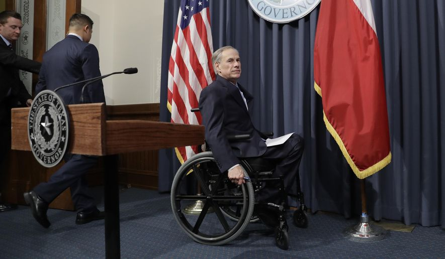 "Texas Gov. Greg Abbott arrives to announce that there will be a special session of the Texas Legislature, Tuesday, June 6, 2017, in Austin, Texas. With the special session, beginning July 18, Gov. Abbott is reviving a so-called ""bathroom bill"" targeting transgender people after the last try ended with Republican lawmakers angry and deadlocked. (AP Photo/Eric Gay)"