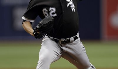 Chicago White Sox's Jose Quintana pitches to the Tampa Bay Rays during the first inning of a baseball game Tuesday, June 6, 2017, in St. Petersburg, Fla. (AP Photo/Chris O'Meara)