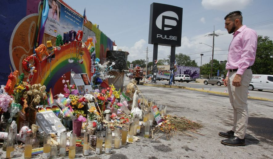 "A year after the fatal June 12 shooting at Pulse in Orlando, Florida, survivor Jeff Rodriguez spoke out in favor of the Second Amendment. ""People assume that because of this I'm against guns,"" he said. (Associated Press)"