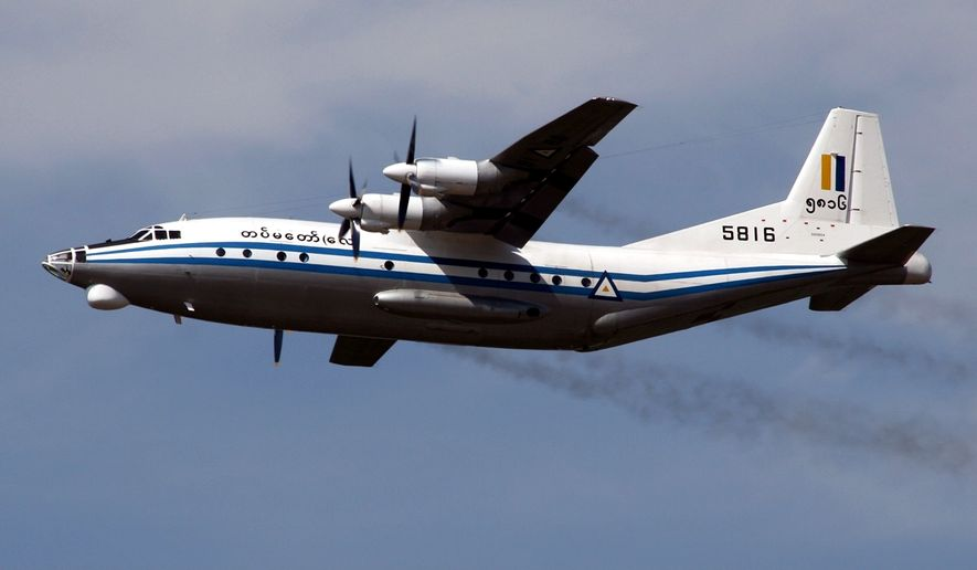 Myanmar Air Force Shaanxi Y-8  (File photo from M Radzi Desa via wikipedia.org)