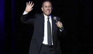 This Nov. 1, 2016, file photo, shows Jerry Seinfeld performing at Stand Up For Heroes in New York. (Photo by Greg Allen/Invision/AP, File)