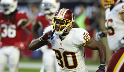 Washington Redskins wide receiver Jamison Crowder (80) celebrates his touchdown against the Arizona Cardinals during the second half of an NFL football game, Sunday, Dec. 4, 2016, in Glendale, Ariz. (AP Photo/Ross D. Franklin)