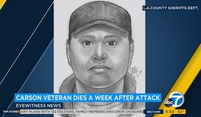 Investigators have released a sketch of the suspect accused of killing 85-year-old Korean War veteran Frank Hernandez.