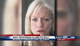 Deborah Ballard-Reisch, a tenured communications professor at Wichita State University, has chosen to retire in protest of the school's new weapons policy allowing students to carry concealed guns on campus. (KWCH 12)