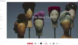 """This screen image released by Google shows a section of the new Google project, """"We Wear Culture."""" Google Inc., which launched the Google Art Project in 2011 to link users with vast art collections around the world, has expanded its scope to include fashion. The new initiative, uses Google's technology to connect users to fashion collections at museums and other institutions around the world, giving them the ability to not only view a garment, but to zoom in on the hem of a dress, wander around an atelier, or even sit down with Metropolitan Museum of Art costume restorers. (Google via AP)"""