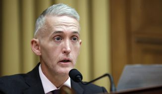 In this April 4, 2017, file photo, Rep. Trey Gowdy, R-S.C., speaks during a hearing of the House Judiciary subcommittee on Crime, Terrorism, Homeland Security, and Investigations, on Capitol Hill, in Washington. Gowdy has been tapped to lead the powerful House Oversight and Government Reform Committee after Chairman Jason Chaffetz leaves Congress at the end of month. (AP Photo/Alex Brandon)
