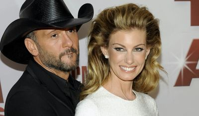 Tim McGraw and wife Faith Hill