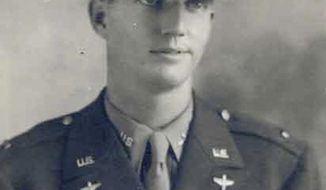 In this 1944 photo released by the U.S. Army, U.S. Army Air Corps Lt. Robert Eugene Oxford poses for an official portrait. The remains of Oxford, a World War II veteran, is returning home to Georgia after going missing 74 years ago following an aircraft crash during a supply mission to India. His remains will be returned to his family for burial Sunday, June 11, 2017, with full military honors in his hometown of Concord, Ga. (U.S. Army via AP)