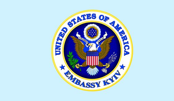 Seal of the U.S. Embassy in Kiev, Ukraine, from the embassy's official Facebook page (Facebook) **FILE**