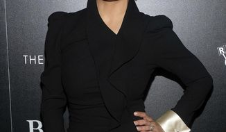 """Salma Hayek attends a """"Beatriz at Dinner"""" screening, hosted by The Cinema Society and Gucci, at Metrograph on Tuesday, June 6, 2017, in New York. (Photo by Charles Sykes/Invision/AP)"""