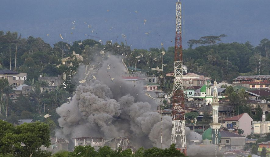 Islamic State claimed over the weekend that its Philippine affiliate, known as the Maute group, killed 50 troops as government forces launched a massive offensive to drive militants out of Marawi. (Associated Press/File)