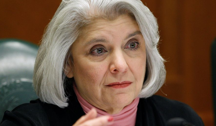 "FILE - This May 28, 2008, file photo shows Sen. Judith Zaffirini, D-Laredo, in Austin, Texas. Texas locks up more people who can't afford to pay tickets and fines than any other state, but that could change if Republican Gov. Greg Abbott signs off on bipartisan bills that would require judges to offer alternatives such as community service, payment plans or waivers. Zaffirini authored her chamber's version of the bill, and said it was ""of extreme importance for low-income people"" that the changes become law. ""If a person can't pay, it spirals from a low-level to high-level problem,"" said Zaffirini, noting that people often lose their jobs during such jail stints. (AP Photo/Harry Cabluck, File)"