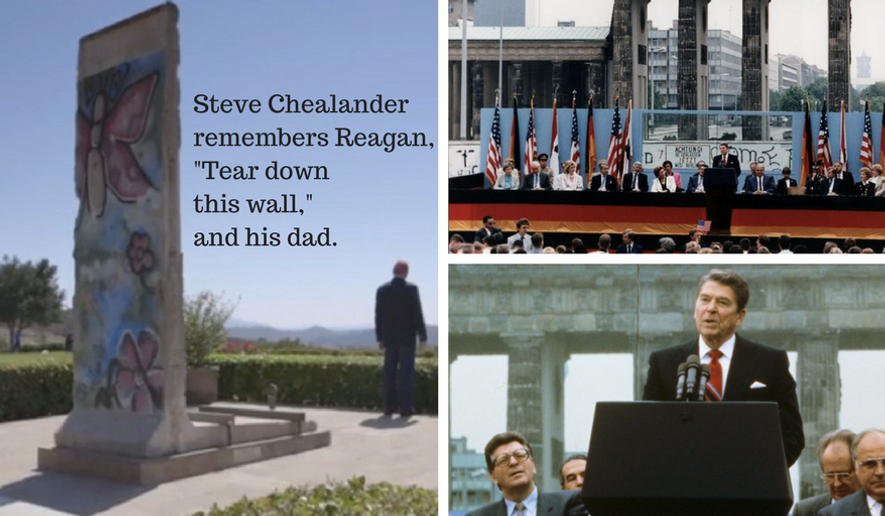 "Steve Chealander, a Military Aide to President Ronald Reagan, shares his remembrances of the historic ""Tear down this wall"" day--June 12, 1987."