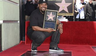 Ice Cube attends a ceremony honoring him with a star on the Hollywood Walk of Fame on Monday, June 12, 2017, in Los Angeles. (Photo by Richard Shotwell/Invision/AP)