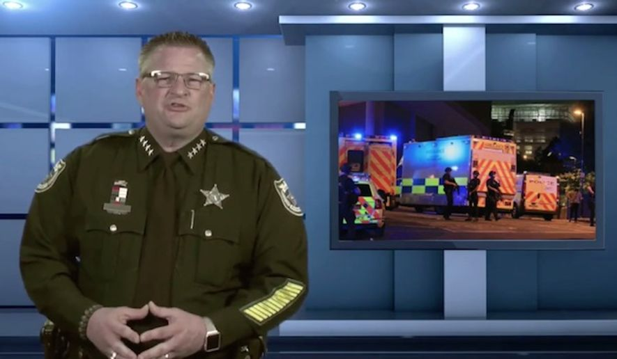 Brevard County Sheriff Wayne Ivey is calling on citizens to exercise their Second Amendment rights and arm themselves in preparation for a potential attack. (Facebook/@Brevard County Sheriff's Office, Florida)