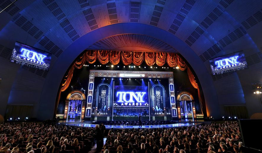 People appear in the audience at the 71st annual Tony Awards on Sunday, June 11, 2017, in New York. (Photo by Michael Zorn/Invision/AP)