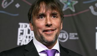 """FILE - In this March 10, 2016 file photo, Richard Linklater appears at the 2016 Texas Film Awards at Austin Studios in Austin, Texas. Linklater's """"The Last Flag Flying"""" will open the 55th New York Film Festival. The New York film Festival runs Sept. 28 - Oct. 15. (Photo by Jack Plunkett/Invision/AP, File)"""
