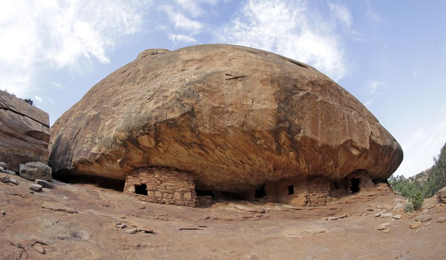 "Bears Ears National Monument in Utah includes the ""House on Fire"" ruins in Mule Canyon. Interior Secretary Ryan Zinke is recommending that the monument be reduced in size and says Congress should step in to designate how selected areas of the 1.3-million-acre site are categorized. (Associated Press/File)"