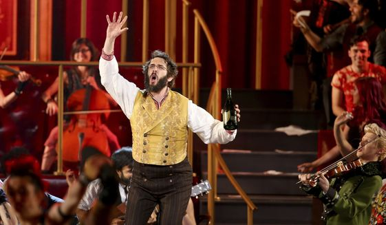 """Ticket sales lulled when Josh Groban left """"Natasha, Pierre and the Great Comet of 1812"""" and Okieriete """"Oak"""" Onaodowan, who is black, took over his role as Pierre Bezukhov. After outrage over diversity, the show will hold its final performance on Sept. 3. (Associated Press/File)"""