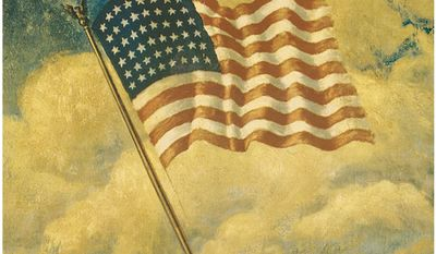 Detail of a 1917 Flag Day poster