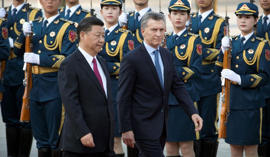 After meeting with Chinese President Xi Jinping in May, Argentine President Mauricio Macri returned from Beijing with $17 billion worth of commitments to build nuclear reactors, railway lines and a power plant. (Associated Press)