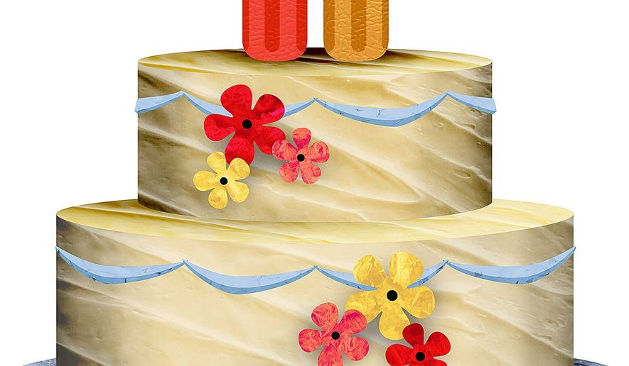 Screwy Wedding Cake Illustration by Greg Groesch/The Washington Times
