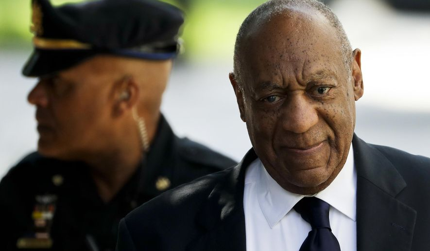 Bill Cosby arrives for his sexual assault trial at the Montgomery County Courthouse, Tuesday, June 13, 2017, in Norristown, Pa.. (AP Photo/Matt Slocum)