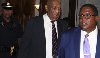 Bill Cosby leaves the Montgomery County Courthouse in Norristown Pa., Monday June 12, 2017. The jury at Cosby's trial began deliberating Monday over whether he drugged and molested a woman more than a decade ago in a case that has already helped demolish the 79-year-old comedian's good-guy image. (AP Photo/Jacqueline Larma)
