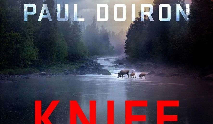 """This book cover image released by Minotaur shows """"Knife Creek,"""" a novel by Paul Doiron. (Minotaur via AP)"""