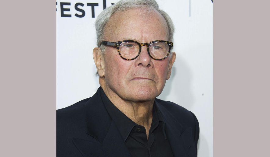 """FILE - This April 15, 2015 file photo, Tom Brokaw attends the 2015 Tribeca Film Festival opening night premiere of """"Live From New York!"""" at The Beacon Theatre in New York.  Brokaw is challenging fellow journalists to write more about the scourge of """"fake news."""" The 77-year-old Brokaw, longtime anchor at NBC's """"Nightly News"""" before stepping down in 2004, accepted an award from Syracuse University on Tuesday. (Photo by Charles Sykes/Invision/AP, File)"""
