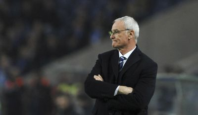FILE - A Wednesday, Dec. 7, 2016 file photo of Leicester City manager, Claudio Ranieri, watching play during a Champions League group G soccer match between FC Porto and Leicester City at the Dragao stadium in Porto, Portugal. The French soccer league has given permission to Nantes to hire former Leicester manager Claudio Ranieri. The Italian coach will reportedly sign a two-year deal. (AP Photo/Paulo Duarte, File)