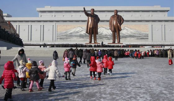 North Koreans, who honor late leaders Kim Il-sung, and Kim Jong-il, are thought to be plotting Hidden Cobra, an operation intended to hijack computer devices for large-scale cyberattacks on critical U.S. infrastructure. (Associated Press/File)
