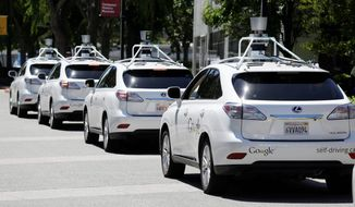 Google has been working in concert with Ford, GM and Tesla on driverless cars for years, and some jurisdictions already allow the test models to be driven on their roads. Some observers expect driverless cars in full use within the next five years, despite that some of the models have gotten into accidents. (Associated Press)