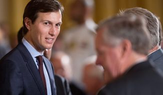Senators want to meet Jared Kushner, President Trump's son-in-law, to discuss contacts he allegedly had with Russian business interests tied to Vladimir Putin. (Associated Press)