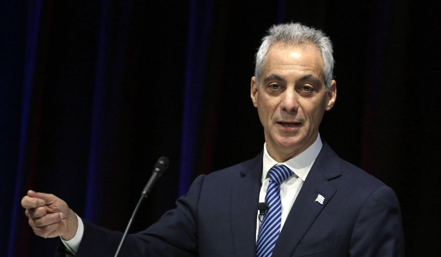 Rahm Emanuel speaks in Chicago, Dec. 3, 2015. (AP Photo/M. Spencer Green) ** FILE **
