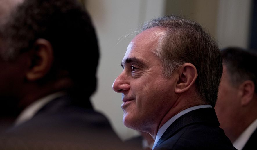 Veterans Affairs Secretary David Shulkin attends a Cabinet meeting with President Donald Trump, Monday, June 12, 2017, in the Cabinet Room of the White House in Washington. (AP Photo/Andrew Harnik)