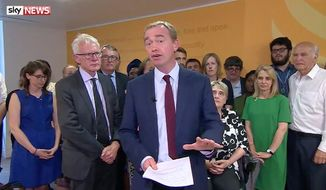 Tim Farron, leader of the U.K.'s Liberal Democrats party, announced his resignation Wednesday, saying he can no longer fulfill his responsibilities as a progressive leader and remain committed to Jesus Christ. (Sky News)
