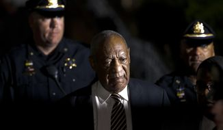 Bill Cosby leaves the Montgomery County Courthouse during his sexual assault trial Wednesday, June 14, 2017, in Norristown, Pa. (AP Photo/Matt Slocum)