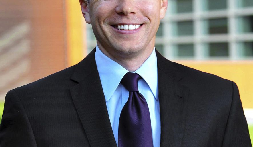 This undated photo released by Tyson Foods company shows Matt Mika. A rifle-wielding attacker opened fire on Republican lawmakers practicing for a charity baseball game, Wednesday, June 14, 2017, in Alexandria, Va. Family members of Mika, a former aide to Michigan Republican Rep. Tim Walberg, said the Michigan native was shot multiple times in his chest and arm, and he remains in the intensive care unit in critical condition at George Washington University Hospital. (Courtesy of Tyson Foods via AP)