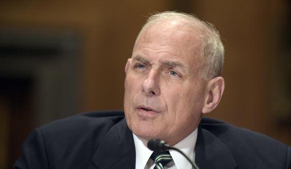 Homeland Security Secretary John Kelly testifies on Capitol Hill in Washington on June 6, 2017. (Associated Press) **FILE**