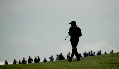 Ryan Palmer walks on the fifth hole during the first round of the U.S. Open golf tournament Thursday, June 15, 2017, at Erin Hills in Erin, Wis. (AP Photo/Charlie Riedel)