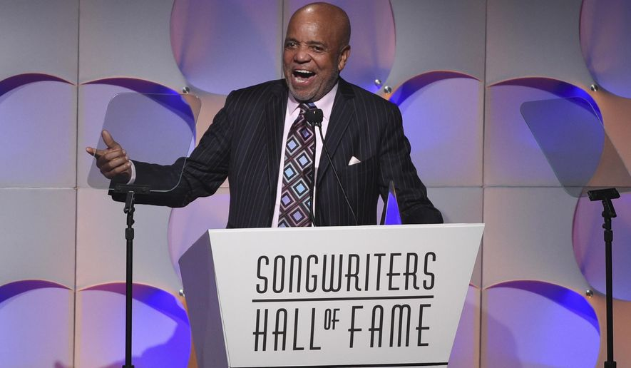 Music mogul Berry Gordy accepts his award at the 48th Annual Songwriters Hall of Fame Induction and Awards Gala at the New York Marriott Marquis Hotel on Thursday, June 15, 2017, in New York. (Photo by Evan Agostini/Invision/AP)