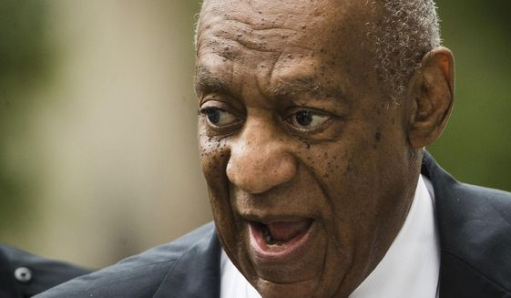 Bill Cosby arrives for his sexual assault trial at the Montgomery County Courthouse in Norristown, Pa., Friday, June 16, 2017. (AP Photo/Matt Rourke)